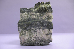 This is an image of an asbestos rock.